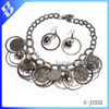 newest design hot sale USA big cheap wholesale costume alloy chunky cicle fashion heavy jewelry set