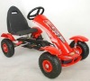 red kid pedal go karts for kids with air tire 5-12year