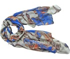 2013 Fashionble Gharry Printed Cheap Voile Polyester European Style Scarves For Spring And Summer