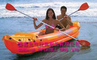 PVC inflatable racing orange canoe EN71 approved