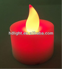 mutilcolor flickering Battery Powered plastic LED candles