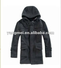 Man fake woolen jacket with hoody for winter