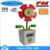 Portable flower shape mini stereo speaker with FM radio