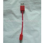 Short Travel Micro USB To USB Data charger sync Cable for s2 s3 Moto EVO red