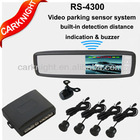 4.3 inch universal rearview video parking sensor system