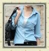 2012 ladies fashion style slim denim shirt
