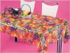 Printed clear Plastic tablecloth