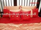 silk wedding bedding set