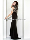 HE071 Cap sleeve floor length lace and chiffon designer christmas party evening dresses