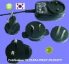 AC Plug Changeable 3~9W 3V/5A/9V/12V AC / DC Adapter for worlwide USE