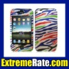 Colorful Zebra Pattern Plastic Case for Apple iPhone 4th - 4G