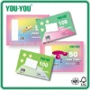3x5'' ruled colored & white index card 40-100 sheets