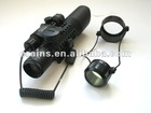 Tactical 3-10X42+G M9A rifle scope red green Mil-Dot Reticle with green laser side mounted
