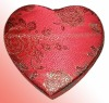 FJ10031- fabric heart shaped jewelry box which good for gift