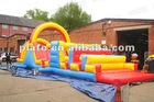 2012 new designed colorful funny adult inflatable obstacle
