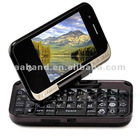 Cell Phone T3000 Function twirling 360 with QWERTY keyboard leather Case dual sim dual camera WiFi TV