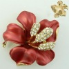 ladies brooches enamel zinc alloy enamel diamond women jewelry