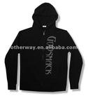 Soft black zip hoodie sweatshirt