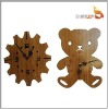 Eco-friendly newest bamboo clock Cheers-D5009