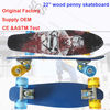 "22.5"" canadian maple maple penny skateboard"