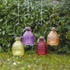 ribbed hanging glass bee catcher