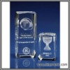 crystal laser award,glass award with inner laser,