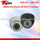CMD-980 CCD IR waterproof dome camera for monitoring entrances, hotel, school, shops, etc.