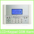 Newest 106 wireless&wired zones LCD display GSM home alarm system with voice prompt