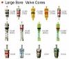 C2-SR large bore valve core for many valves