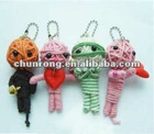 2012 new mini handicraft fabric string Voodoo Dolls,clown mini dolls