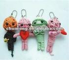 2012 new mini handicraft fabric string Voodoo Dolls,clown mini dolls