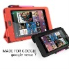 2012 Newly designed PU case for google nexus 7 sheepskin pattern