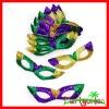 Mardi Gras Budget Sequin Cat Eye Masks
