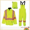 Safety jacket bib pants storm rain suit 2pcs