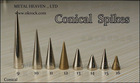 stocked big/small brass cone/conical brass spikes black/white/blue/green/red/pink/purple/silver/gold