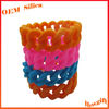 Hot Fashion Shape Multi Colours Promotional Chain funny rubber bracelet