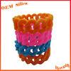 Hot Fashion Shape Multi Colours Promotional Chain funny rubber bracelet