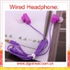 good gift! newest cute unique design stereo earphone headphones