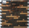 NEW ITEM--glass mosaic,glass tile mixed metal mosaic--YDA020