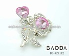 2012 new design magnetic Wholesale rhinestone brooch and pin