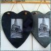 heart shape slate photo frame