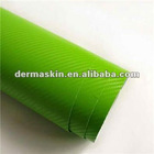High Quality 3D Green Texture Carbon Fibre Vinyl Twill Car Wrap Sticker Bubble Free
