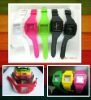 Fashional silicone square jelly watch