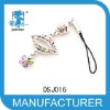 lip shape alloy and crystal fashion phone chains 2012