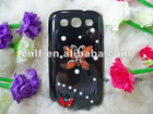 cell phone case card holder/jeweled cases for samsung galaxy 3