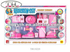 Interesting design battery operated kitchen set toys W/light for kids
