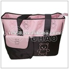 Fashional Cute 2013 OEM washable canvas tote shoulder mommy bag
