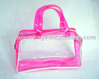 Clear plastic tote bag