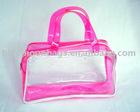 Clear plastic tote bag
