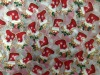 Crystal Organza Fabric With Christmas printing